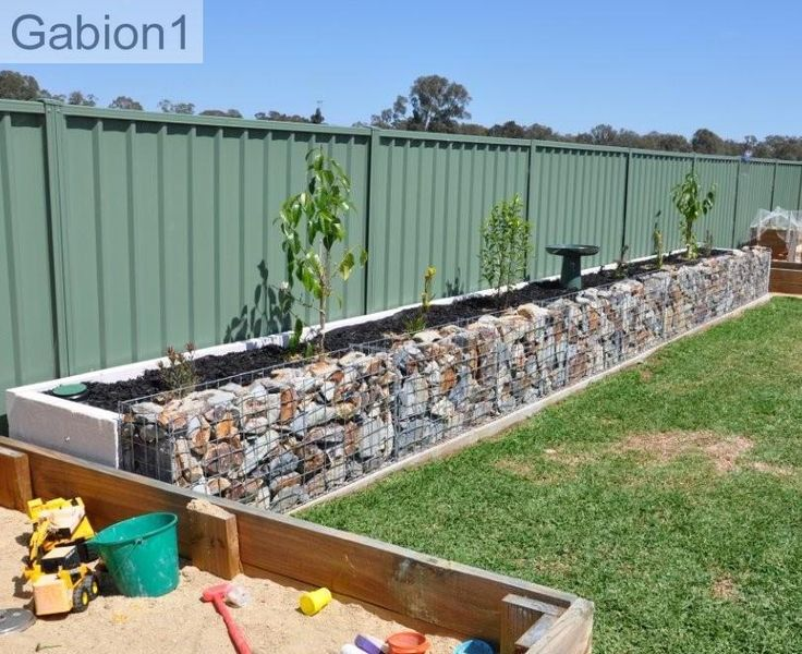 Gabion planter 2ft tall x 1ft thick for Alternative planters
