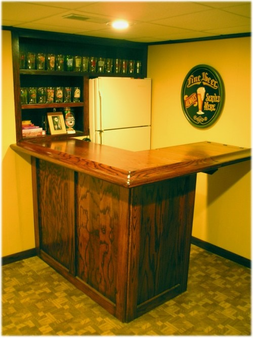 L Shaped Bar Build Great With A Lift Gate Shape Shifter Man Cave Ideas Pinterest And Plans