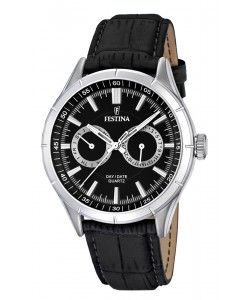 FESTINA Multifunction Black Leather Strap (F16781/4)