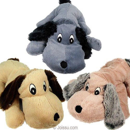 19 Plush Lying Down Floppy Dogs With Embroidered Features And