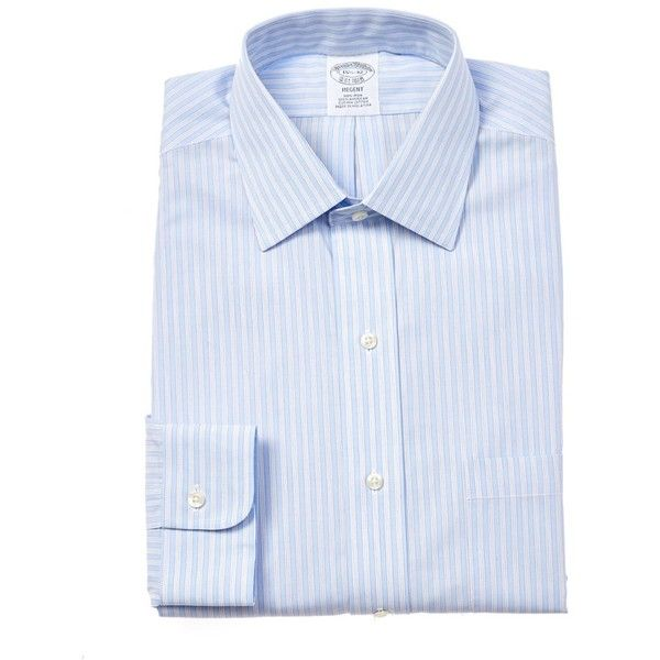 Brooks Brothers Brooks Brothers Regent Fit Dress Shirt | Bluefly.Com ($52) ❤ liked on Polyvore featuring men's fashion, men's clothing, men's shirts, men's dress shirts, mens floral print dress shirt, mens dress shirts, mens blue dress shirt, mens tailored shirts and brooks brothers men's dress shirts