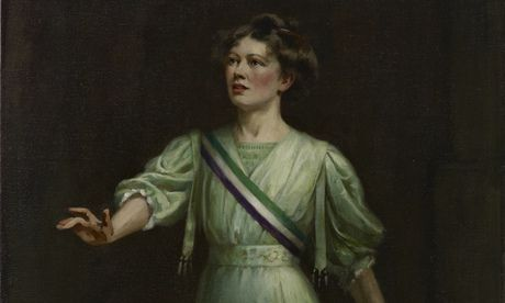 Christabel Pankhurst by Ethel Wright, first exhibited in 1909. It was bought by another suffragette, Una Dugdale Duval. Photograph: National Portrait Gallery London