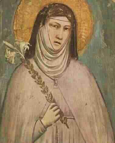 Saint Clare. Patron Saint of Television. I would add Teenagers.