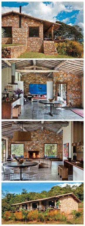 Casa mineira estilo rústico. Dos arquitetos Ricado Hachiya e Luíza Fernandes.