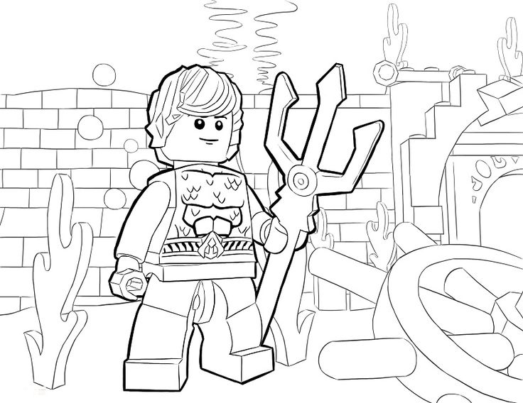 Lego Aquaman Coloring Pages Cartoon Lego Coloring