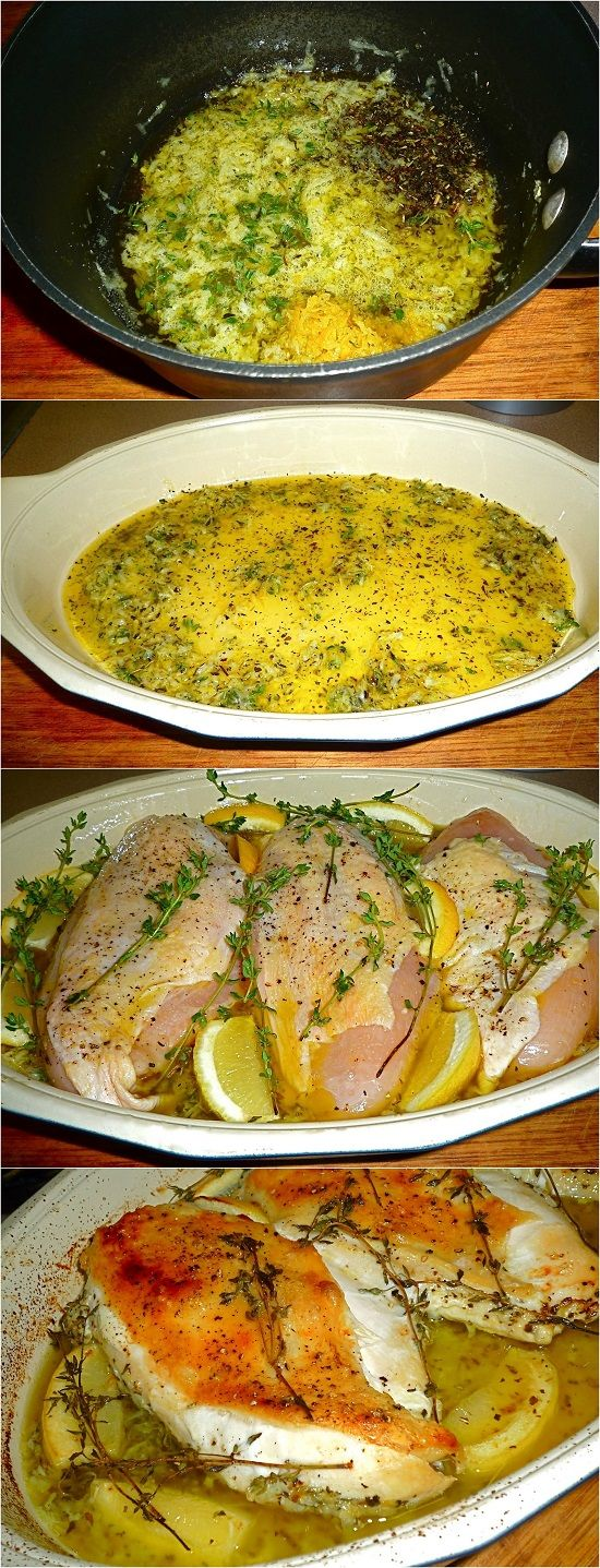 LemonThyme Roasted Chicken Breasts Chicken recipes