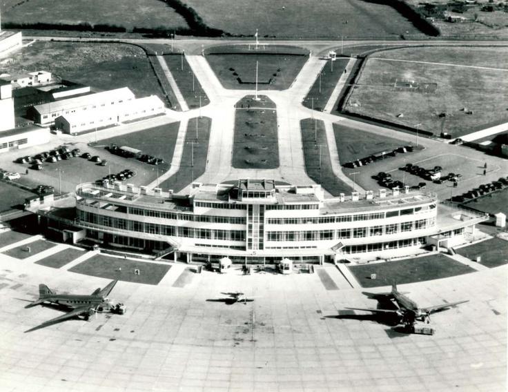 Dublin Airport in the early 1950s.  #Dublin #Ireland #Aviation #History #DublinAirport #Collinstown #AvGeek #Travel