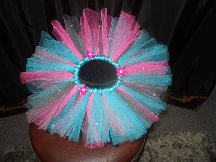 Handmade by Candy's Creations    Infant Size Tutu - Average age 0-4 months. Fits most.    Teal, Bubble Gum Pink and Gray Infant Tutu with Hot Pink Flowers and Pearl Accents.    Price: $25  Shipping: Send message    http://www.facebook.com/CandysCoutureCanada