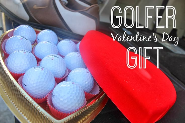 A Valentine's Day Gift For Him! Know A golfer? Here is the perfect gift for him! Heart shaped box of golf balls. Cute idea!