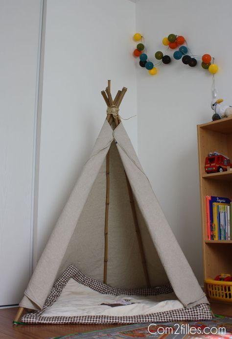 DIY Couture   déco   un tipi pour une chambre d enfant ! c980e9cb16dc