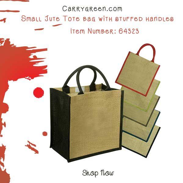 Small Jute Tote Bag With Stuffed Handles Item Number 64323 Smalljutebag Weddingfavorbag Burlap Gift Bagsjute
