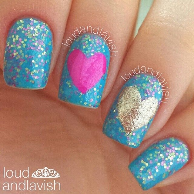 VALENTINE By Loudandlavish #nail #nails #nailart. Little Girl ...
