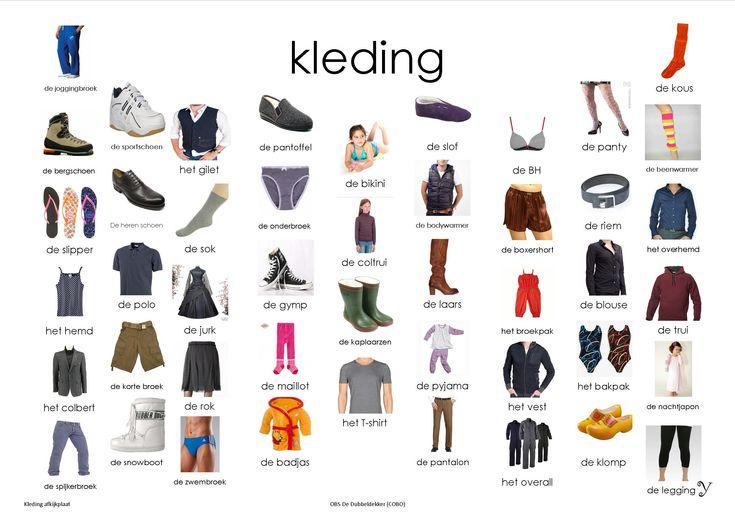 kleding, afkijkplaat