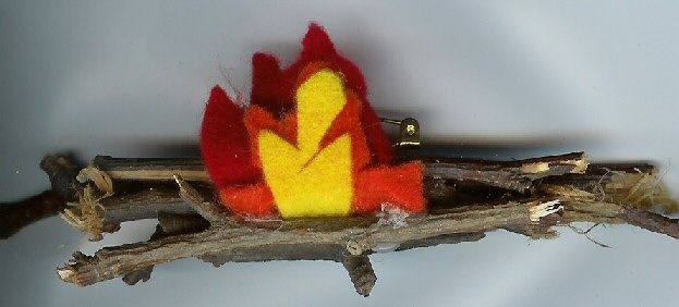 campfire neckerchief slide idea