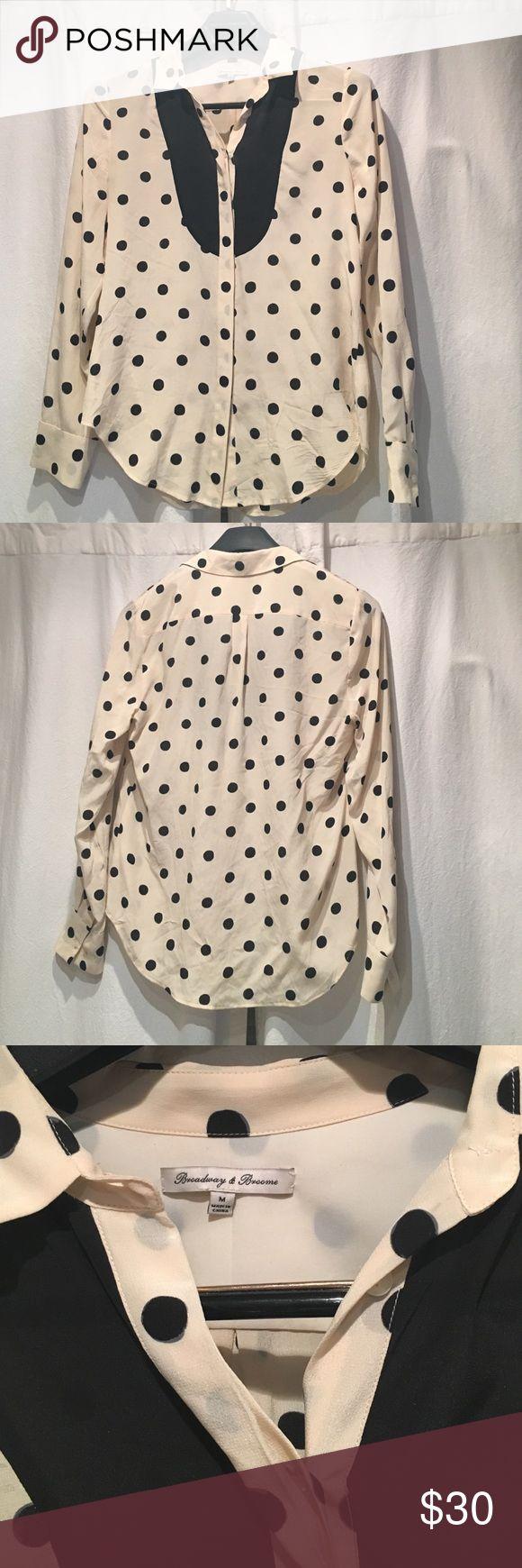 Madewell Polka Dot Tux Shirt Silk polka dot shirt from Madewell. 100% silk! Worn just a few times. Madewell Tops Blouses