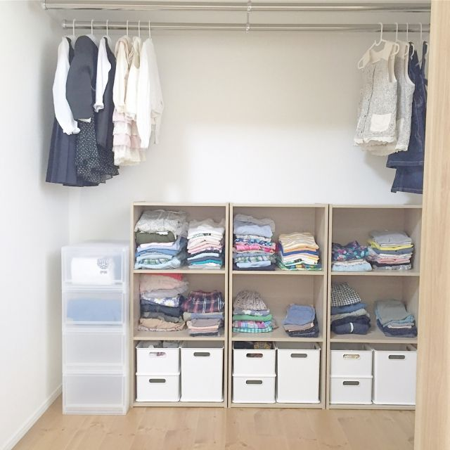 itousanさんの、部屋全体,無印良品,クローゼット,カラーボックス,子供部屋,収納,洋服収納,オープン収納,平屋,シンプルライフ,暮らし,収納アイデア,のお部屋写真