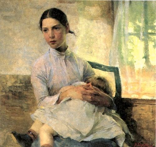 Helene Schjerfbeck-The Nursemaid 1889 (Finnish)