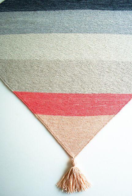 Ravelry: Colorblock Bias Blanket pattern by Purl Soho