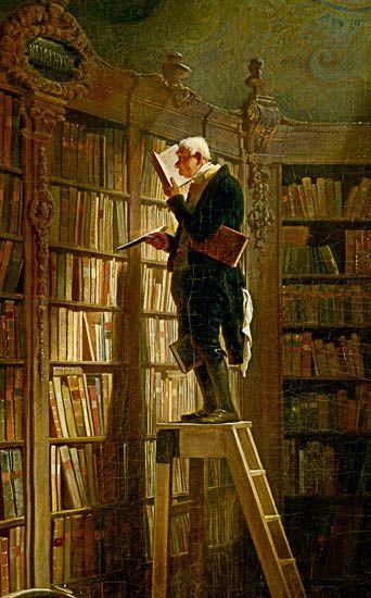 Carl Spitzweg-Der Bücherwurm (Detail)
