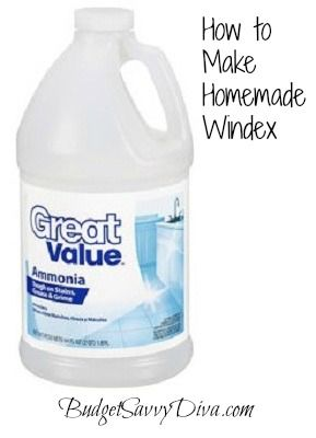 How to Make Homemade Windex  1/8 cup ammonia  1/2 cup rubbing alcohol  1/4 tsp dish soap  1 quart water  Mix ingredients into a spray bottle and mix gently.