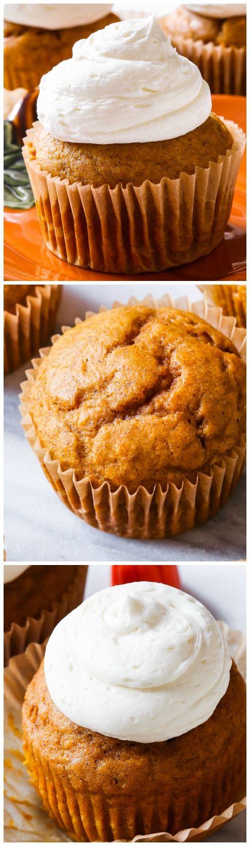 Pumpkin Marshmallow Cupcakes!