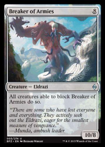 Breaker of Armies Magic the Gathering mtg Battle for Zendikar card eldrazi creature