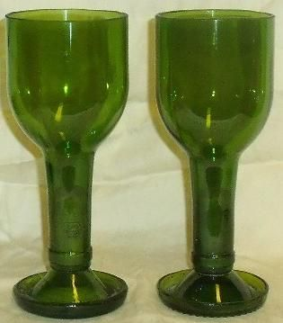 Recycled Wine Bottle Wine Glass