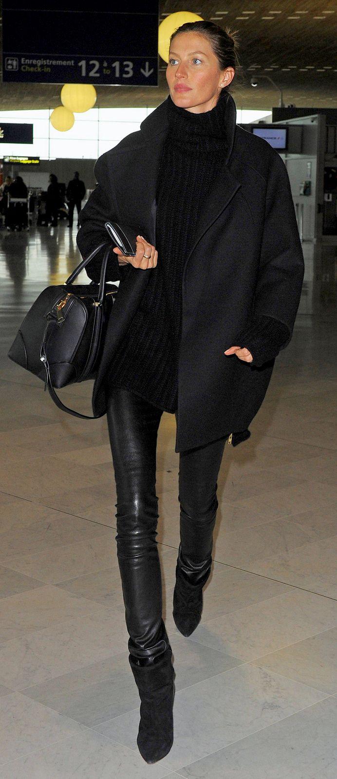 Gisele Bündchen at Charles de Gaulle Airport in Paris.