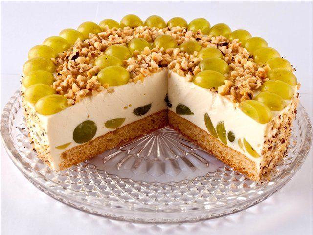 Творожно-фруктовый торт без выпечеки