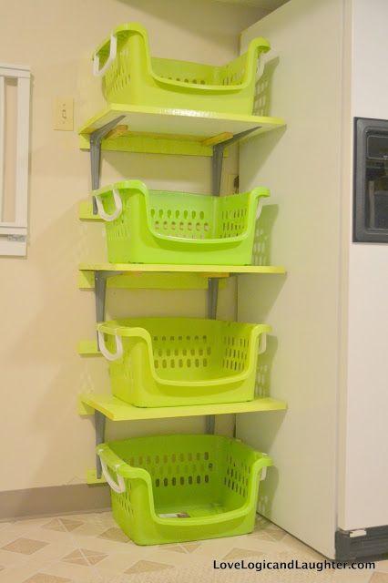 Shelves for Laundry Baskets - diy