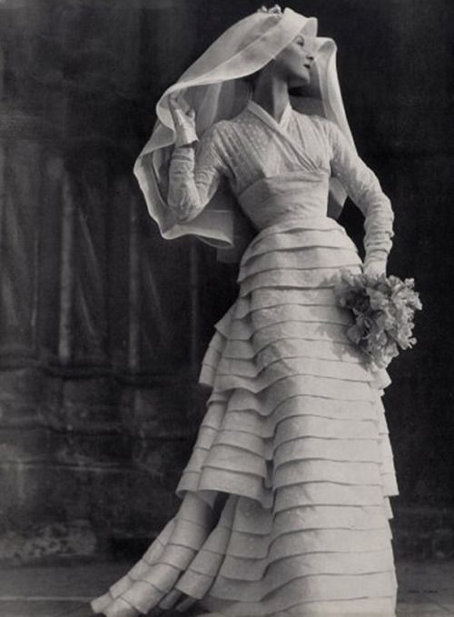 1953 wedding gown #vintage
