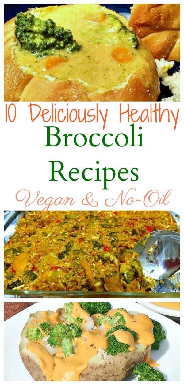 10 Healthy Vegan Broccoli Recipes No Oil Broccoli Recipes Broccoli Recipes Healthy Food Articles