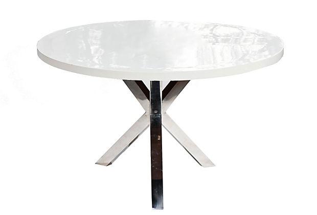 Paragon Dining Table, White on OneKingsLane.com