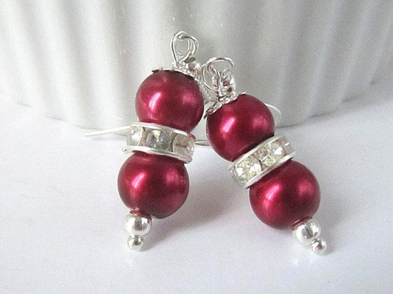Hey, I found this really awesome Etsy listing at https://www.etsy.com/listing/172035994/dark-red-wedding-jewellery-red