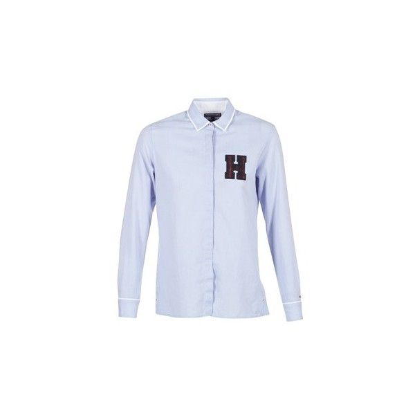 Tommy Hilfiger JULIA SHIRT LS W3 Shirt ($105) ❤ liked on Polyvore featuring tops, blue, shirts, women, tommy hilfiger shirts, tommy hilfiger, blue top, tommy hilfiger top and blue shirt