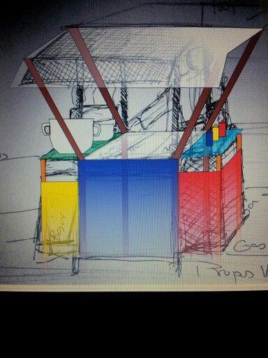 Propuesta fe estructura para  vendedores ambulantes de Comida típica Tradicional en SanPacho2013 Quibdó Chocó