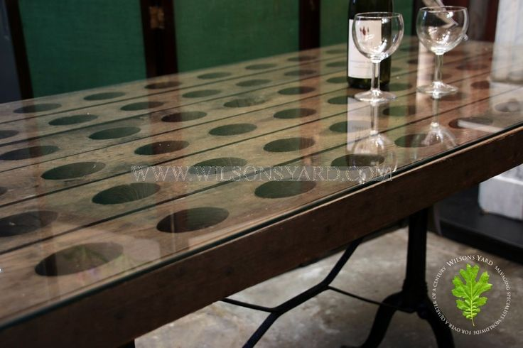 French Champagne Rack Table with Glass Top | Wilsonsyard.com