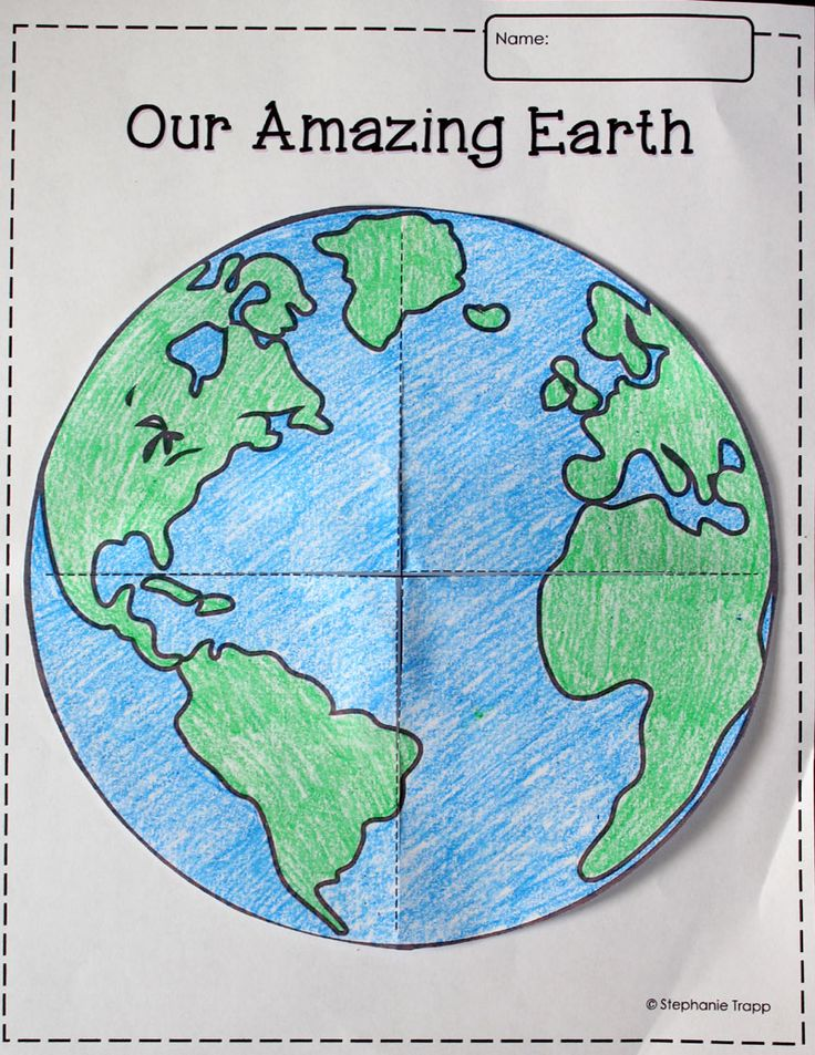 Earth template printable FREEBIE