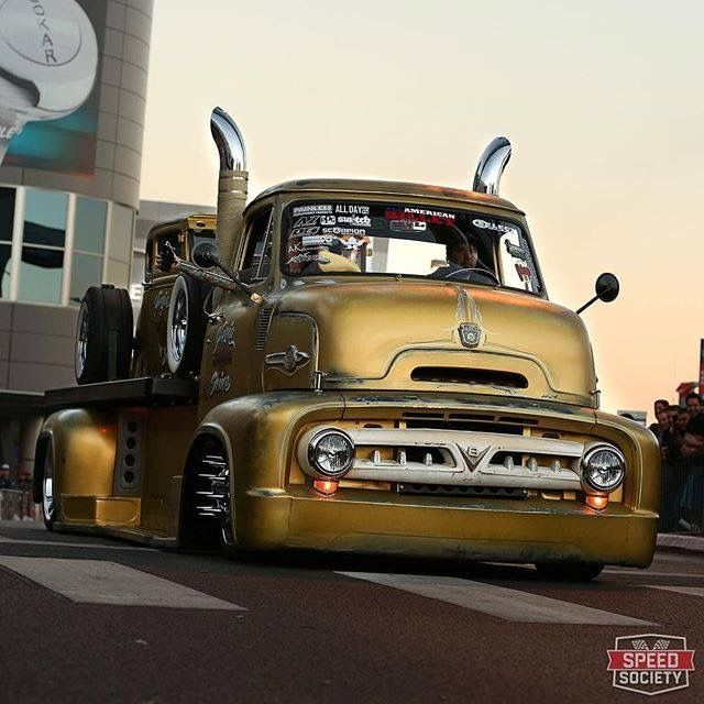 Ford COE and matching hot rod