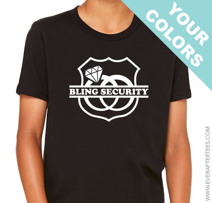 Bling Security Shirt . Ring Bearer Shirt .