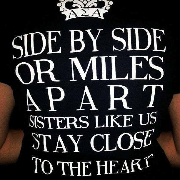 Side by side or miles apart sisters like us stay close at heart seniors tee