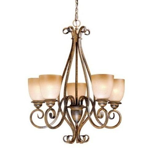 Vaxcel Lighting CH35905 Mont Blanc 5 Light One Tier Chandelier, Aged Walnut Vaxcel http://www.amazon.com/dp/B001ARIZM2/ref=cm_sw_r_pi_dp_moYgvb0TJ8ECD