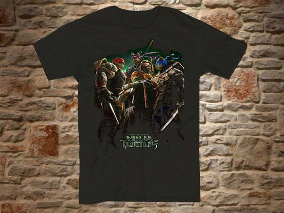 Ninja Turtles TMNT a 100 cotton branded Tshirt in by bluebeeshirt, $15.50