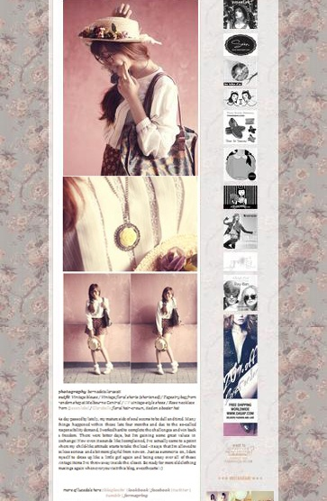 Blog post by Luce-dale @claradevi