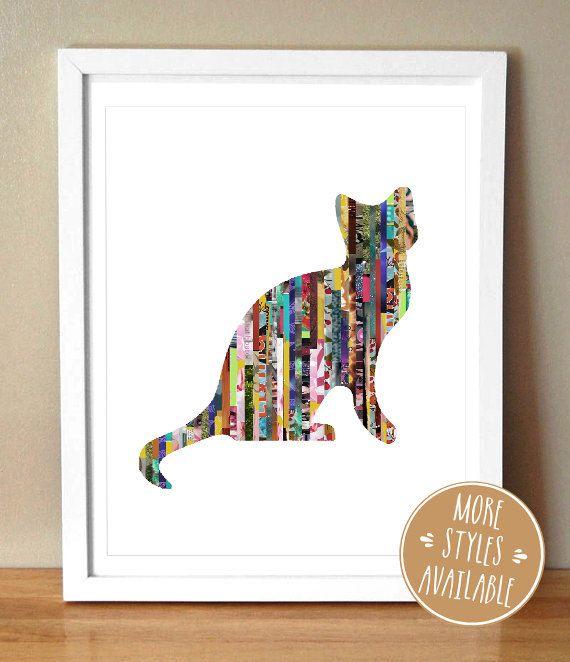 Art Print miaulement du chat divers Cat