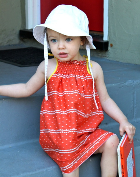 Sweet Shirred Summer Dress Pattern - DIY: This is a modern take on those traditional Polly Flinders smocked dresses.