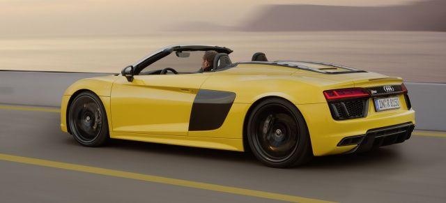 Audi öffnet den R8: Premiere für den neuen Audi R8 Spyder