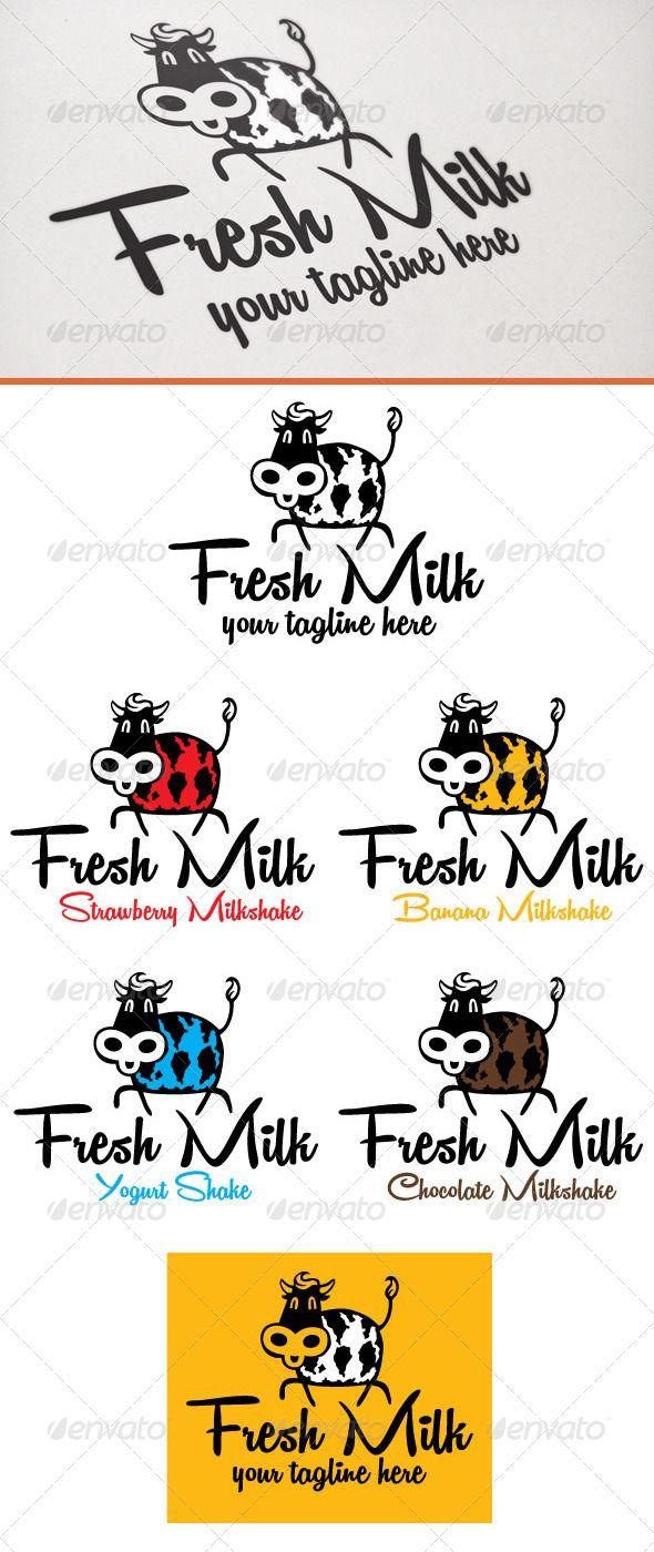 Fresh milk Fresh milk, Vintage logo design, Milk