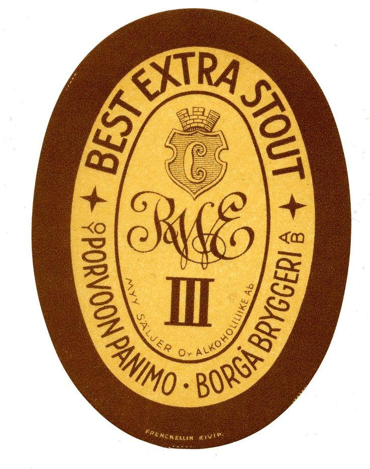 Best Extra Stout, Porvoon panimo, #olut #etiketit #beer #labels