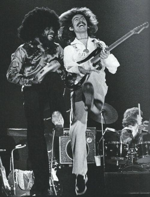 Billy Preston and George Harrison, the Dark Horse Tour, 1974  ~Repinned Via Robert Hewitt